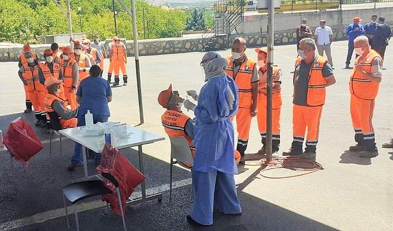 Belediye Çalışanlarına Korona Testi Yapıldı