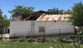 Fırtına Şehit Evinin Çatısını Uçurdu