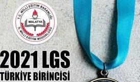 LGS'de Bir Türkiye Birincisi de Malatya'dan