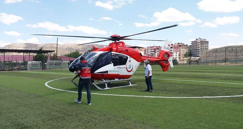Beyin Kanamalı Hasta Helikopterle Nakledildi