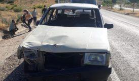 Ata Çarpan Otomobilde 2 Yaralı