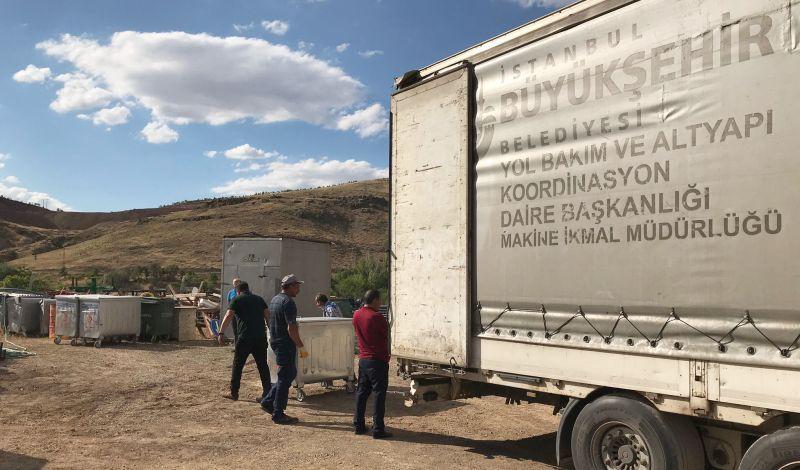 İBB'den Arapgir Belediyesine Çöp Konteyneri Yardımı
