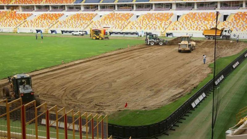 Yeni Malatya Stadı'nın Zemini Tamamen Yenileniyor