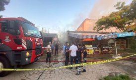 Lokanta Yangını Korkulu Anlar Yaşattı