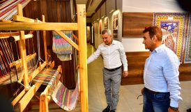 Çınar, Selahattin Alpay'a Müzeyi Gezdirdi