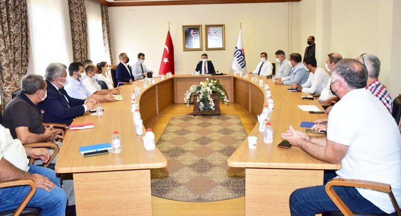 Firma Yetkilileriyle Valilikte Korona Toplantısı