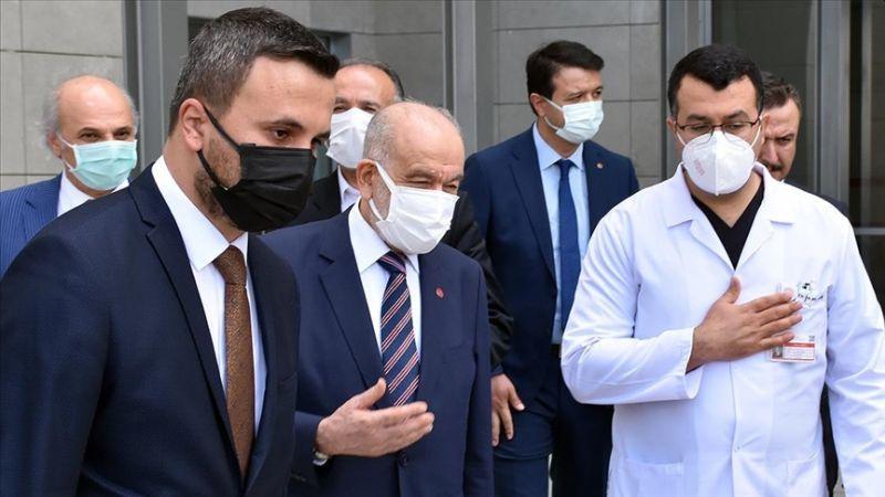 Karamollaoğlu, Asiltürk'leri Hastanede Ziyaret Etti