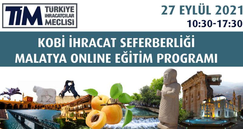 KOBİ İhracat Malatya Online Eğitim Programı