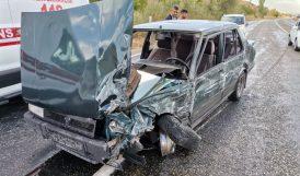 Malatya Otobüsü Kaza Yaptı.. 3 Yaralı