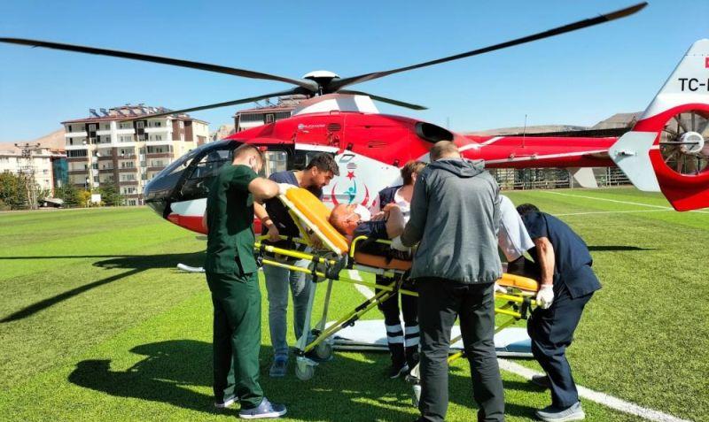 Kriz Geçiren Hasta Helikopterle Nakledildi