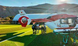 Yaralı Hava Ambulansı İle Nakledildi