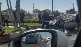 Kavşaktaki Kazada 3 Kişi Yaralandı